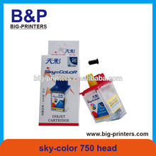 original and 100% new .inkjet printer spare parts printhead sky-color 750 inkjet printer print head /encad novajet ink cartridge