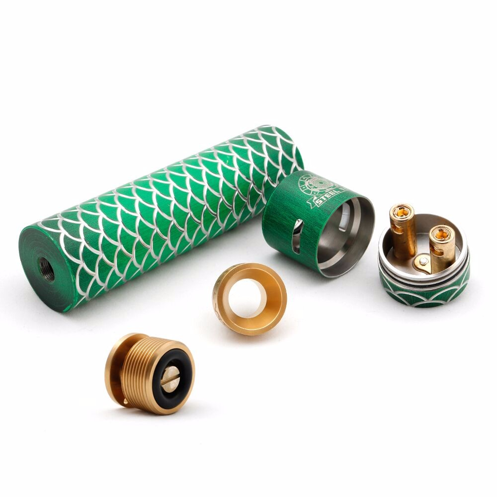 Mechanical tube mod with RDA kit 120mm mod kit Stainless Steel/Brass Sebone mod kit