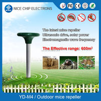 Solar Powered Rat Mice Rodent Mole Pest Repeller Garden Sonic Repeller