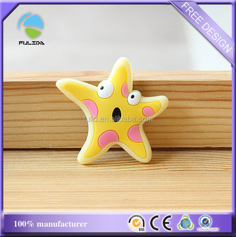 starfish shaped soft PVC rubber decorative fridge magnet