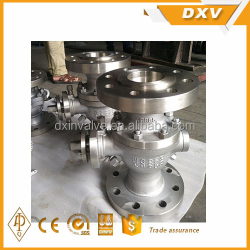 customized CF8C body gear operate trunnion mounted ball valve