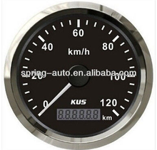 85mm GPS Speedometer velometer 0-120km/h with mating antenna black faceplate for Universal car motorcycle