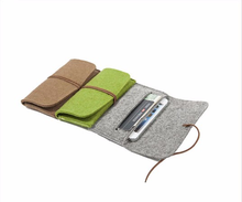 Cheap felt mobile phone case with card holder bag CE certificated