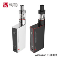 Vaptio S150 dual 18650 e cig battery top fill tank 150w variable wattage temperature control mod wholesale vaporizer pen