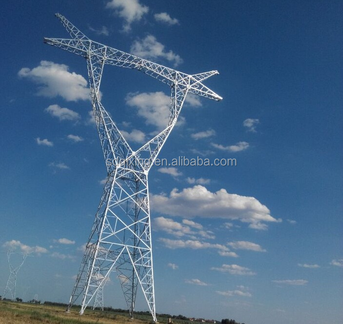 electrical tube three-circuit 33kv transmission line tower high voltage steel pole in power distribution equipment