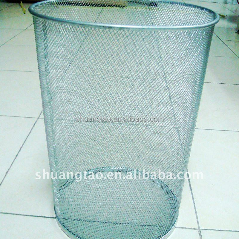 Professional production Fashionable silver waste bin