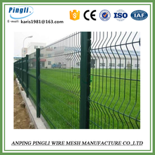 plastic coated fence panel/Powder coated welded wire mesh fence