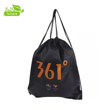 wholesale customized 210t polyester sports backpack drawstring bag custom