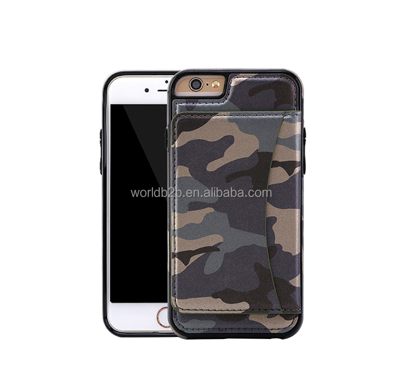 Camouflage Stand Leather Cellphone Case For iPhone 6/6s, Multifunction Wallet PU Leather Phone case for iPhone 6