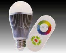 2015 best selling WiFi LED bulb 2.4G Bulb led Touch Screen Remote Control RGBW LED Bulb