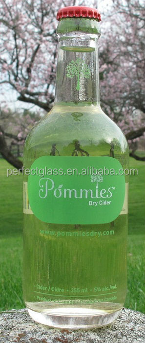 355ml flint glass soda bottle