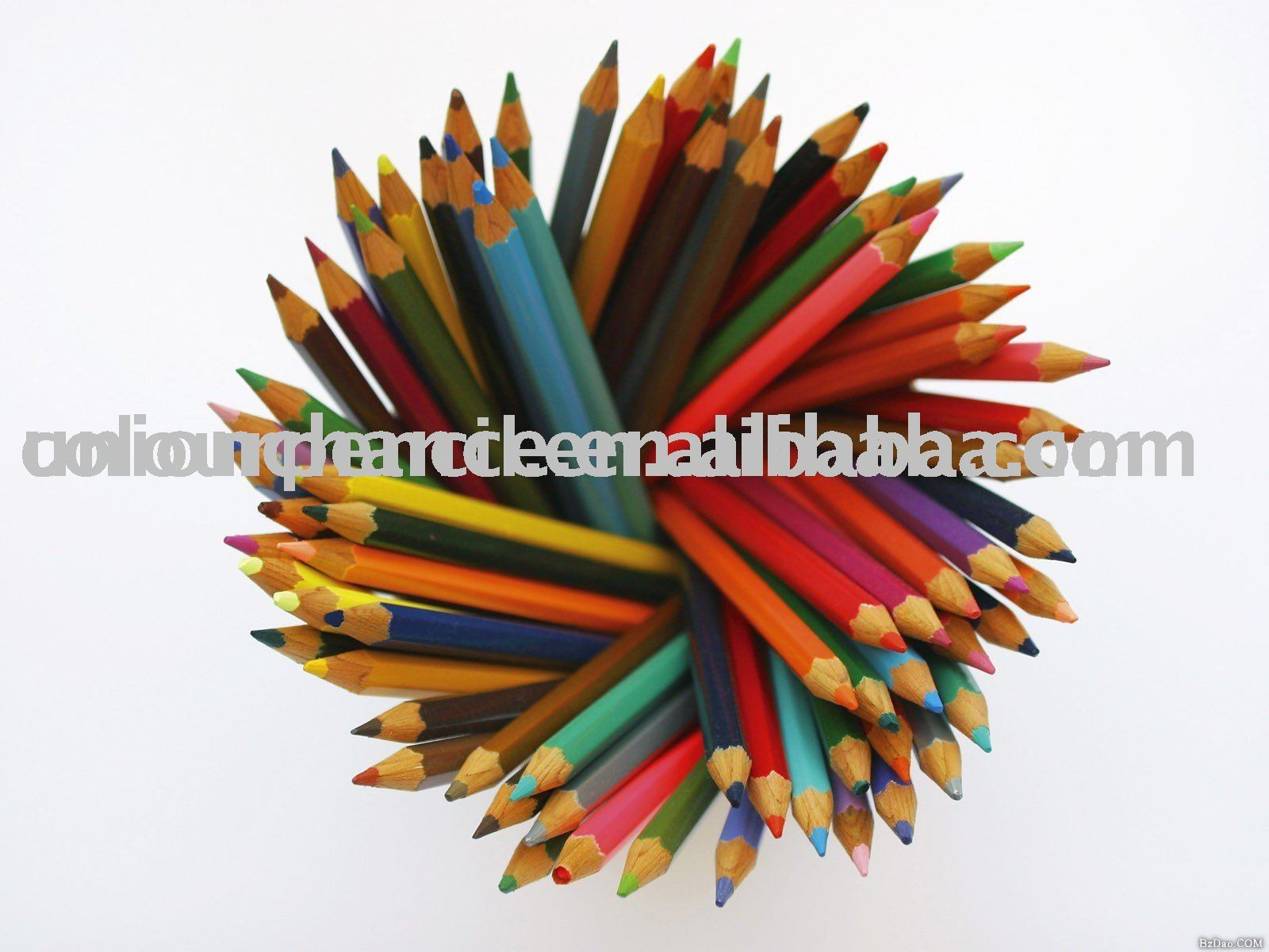 7inch non-toxic basswood coloured pencil,wooden pencils
