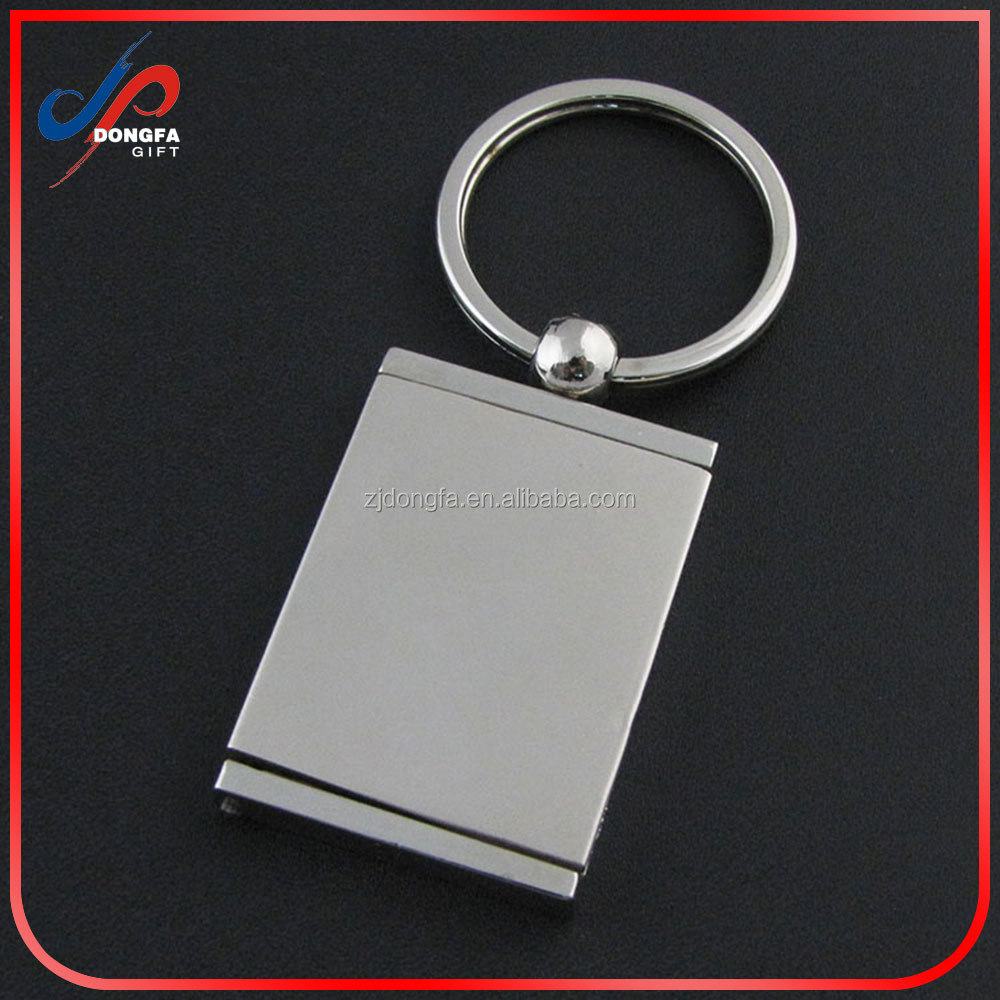 New rectangle Creative Different Shape Metal Photo Frame Key Chain Ring Keychain