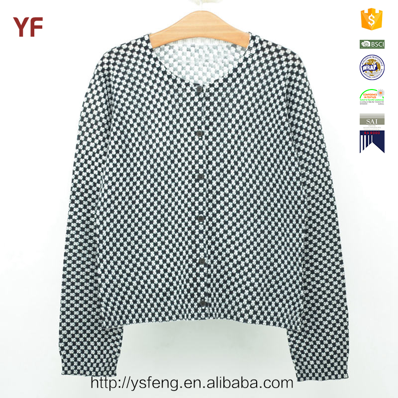 Print Cardigan Woolen Kids Knitted Sweater Designs For Children