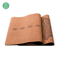 Eco friendly manufacturer space health foldable cork yoga mat