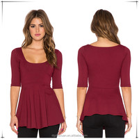 Fashion Women's Collect Waist Tops Latest T Shirt Designs For Women