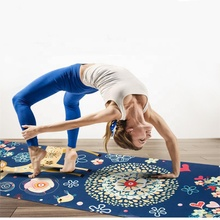 Wholesale Promotional Custom Digital Printing Natural Rubber Suede Design Logo PU Eco Friendly Yoga Mat