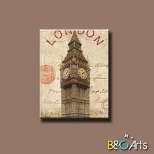 Hot sale London Big Ben digital canvas printing art for wall decoration