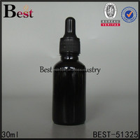 1 oz essential Oils -china manufactures-2015 new black fine packaging- glass ale bottles use to seed oil,black dropper 30ml