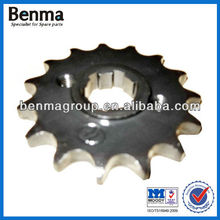 QJ125 Motorcycle Front Sprocket, 1045 SAE Steel 15T Sprockets for Motorcycle QJ125 Cheap Sell