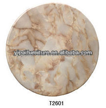 round imitation marble table top with resin T2601