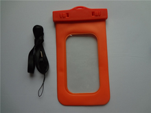 Orange PVC traveling Waterproof phone pouch case for unlocked iphones wholesale