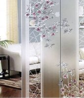 clear acid etched glass for decorative partition