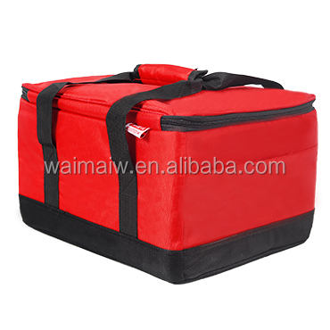 12 inch Inside/outside waterproof and keep food warm bag, big size pizza cooler carry bag