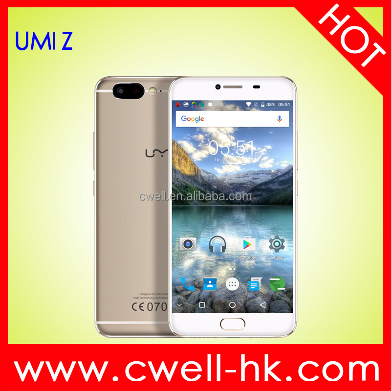 UMI Z Smart Phone for wholesale Alibaba with Helio X27 MTK6797X 3780mAh 2.6GHz Ten Core 5.5 Inch FHD Screen Mobile Phone