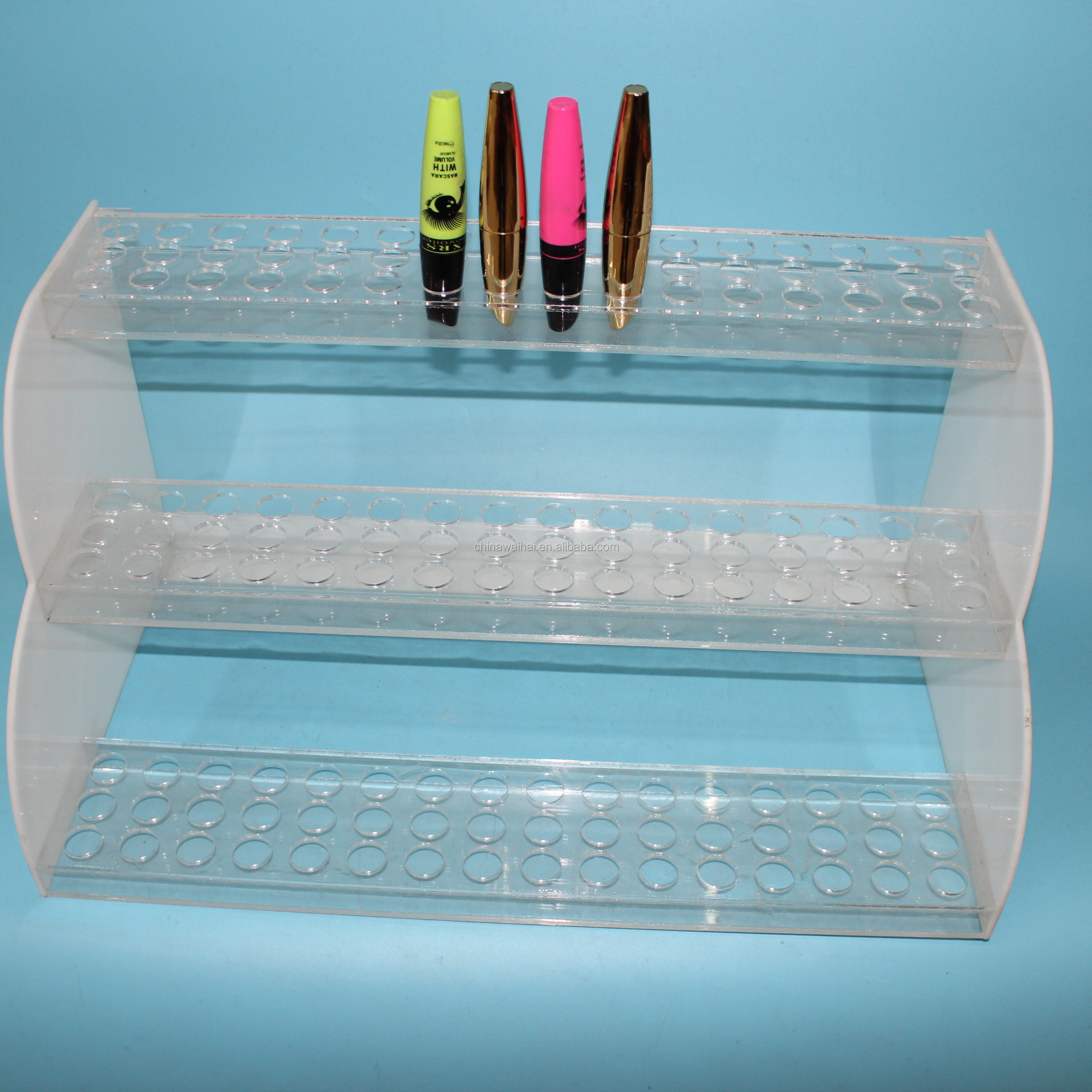 3Tiers White Acrylic Mascara Display Stands