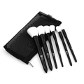 Beauty black handle and white synthetic hair makeup brush set private label 6pcs each set