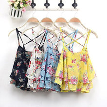 Wholesale OEM Fashion Women Summer Floral Vest Top Sleeveless Casual Tank Blouse Tops T-Shirt