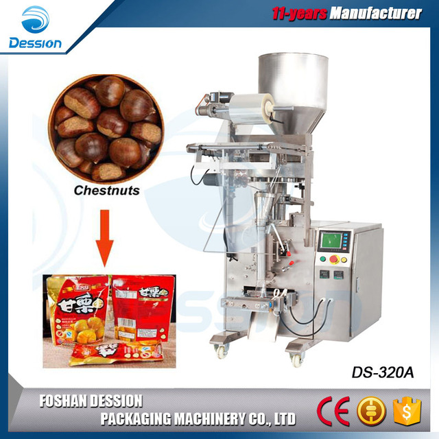 Cup Measuring Automatic Sachet Chestnuts Packing Machinery