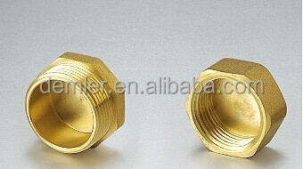 "1/4""-2"" Male/Female; Forged Brass Body; brass cap"