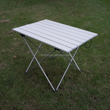 Lightweight custom portable folding outdoor aluminum camping table