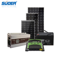 Suoer solar energy panel system price 12V 600W dc off grid inverter solar power panel system home
