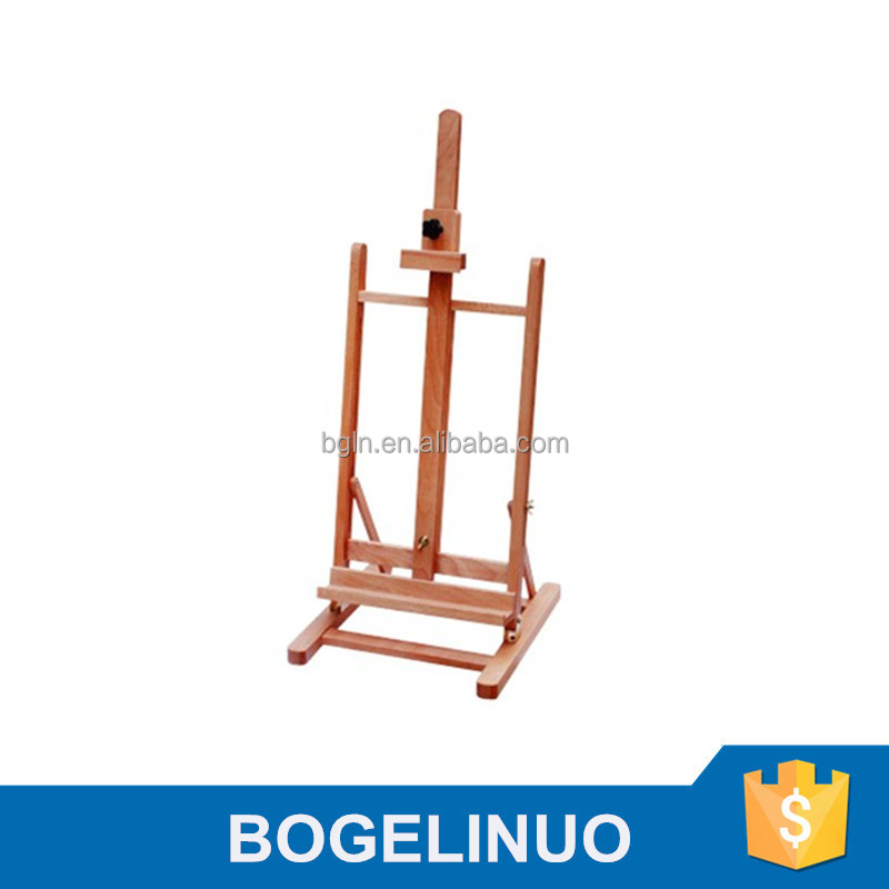 in stock 34*37*83(116)cm professional foldable beech wood table top easels wholesale