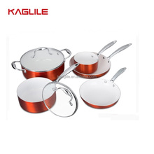 Aluminium China white ceramic cookware