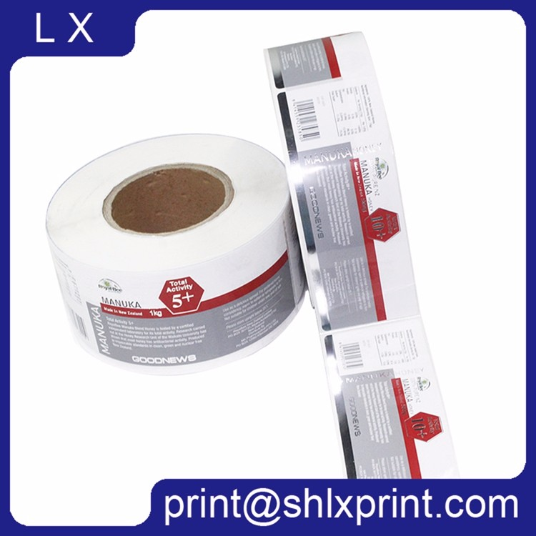 Custom Logo Printed Roll Sticker Adhesive Label Wine Label Food Label Roll Label