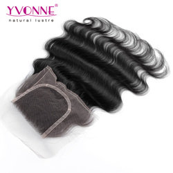 Virgin Human Hair Body Wave Peruvian Closure Hair
