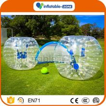 Factory Direct Wholesale amazing colorful dots string tie anchor bubble soccer 2016 adults soccer bubble