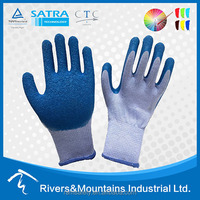 RAMSAFETY15G 10G 21G 13G 7G Cotton Coated Latex cheap Work Hand Gloves
