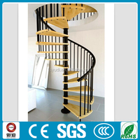modern interior iron wood spiral stairs modular design