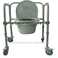 commode wheelchair with toilet