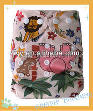 New printed pul sweet girls baby cloth pocket bamboo all in one diaper
