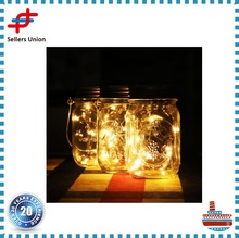 Solar Mason glass Jar Lid Insert- Warm White LED Fairy Mason Jar Solar String Light