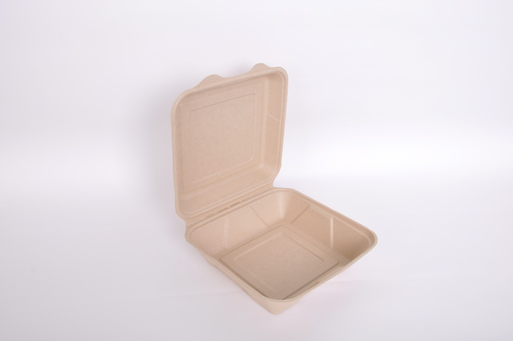 Good Quality E-co Friendly Disposable Food Safe Wheat Straw Paper Dinner Box Wheat Straw Clam Shell