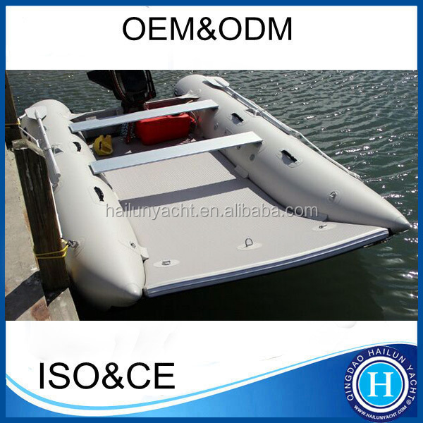 Inflatable catamaran 12.5 ft speed boat set with hijackers HLK380