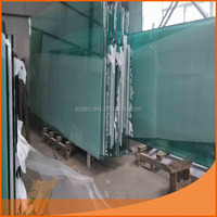 12mm clear tempered glass /laminated glass with factory price