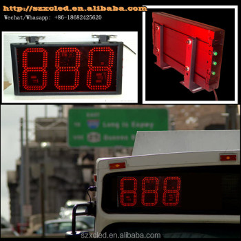6inch digit height Button controlling umbers LED bus route line number display